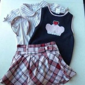 Gymboree School Girl Rock Outfit Size 7/8